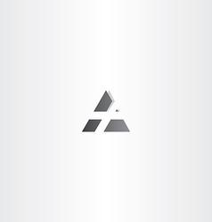 letter a black triangle icon design vector image vector image