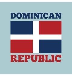 Dominican republic country flag vector