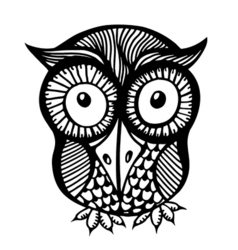 Hand drawn owl vector image