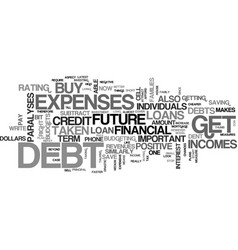 its important to get out of debt text background vector image vector image