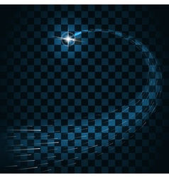 Star bursts trail sparkles isolated transparent vector image