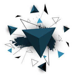 blue triangle abstract on white background vector image vector image
