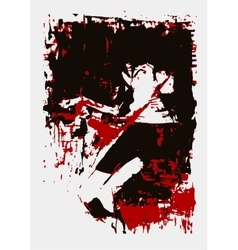 paint girl lies red black vector image vector image