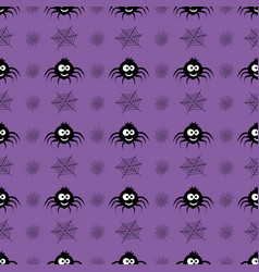 pattern with spider vector image vector image