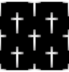 Religious cross seamless pattern vector image vector image