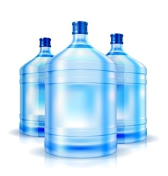 Three big bottles of water for cooler vector image vector image