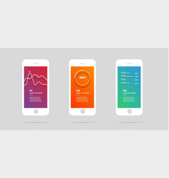 ui kit concept mobile app colorful infographic vector image