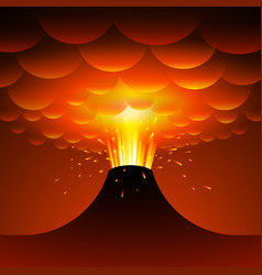 volcano eruption cartoon vector image
