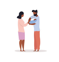 04 couple holding their baby vector image
