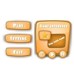 Abstract Creative concept Interface game vector image