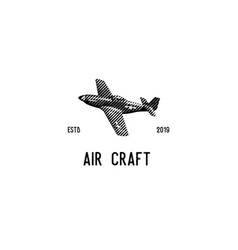 air craft vector image