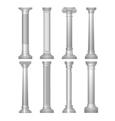 antique column set vector image