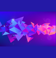 astract 3d geometric shape isolated vector image