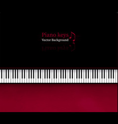 background with top view piano keys vector image