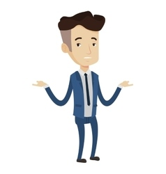 Bankrupt businessman with spread arms vector