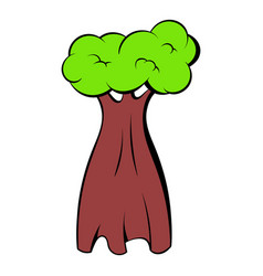 baobab tree icon cartoon vector image
