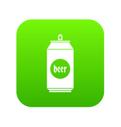 beer in aluminum cans icon digital green vector image