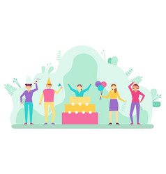 birthday party surprise celebration and party vector image