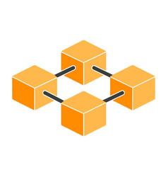 blockchain icon simple minimal 96x96 pictogram vector image