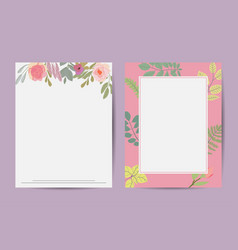 botanical vertical banners with lotus flowers vector image