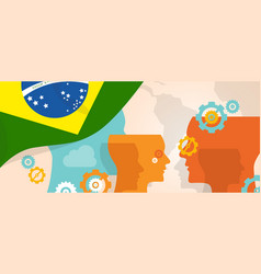 Brazil concept of thinking growing innovation vector