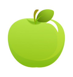 bright green apple vector image