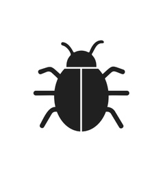Bug insect infection parasite icon graphic vector