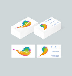 Business card template 4 vector