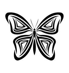 butterfly tattoo animal design vector image