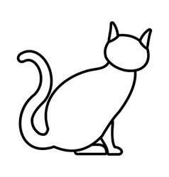 Cat icon outline style vector