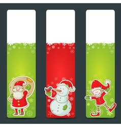 Christmas congratulation stickers vector