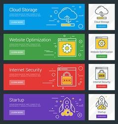 Cloud Storage Website Optimization Internet vector