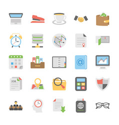 Collection of office document and supplies vector