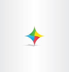 Colorful abstract technology logo icon element vector