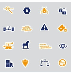 Computer security stickers eps10 vector