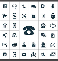 contact us icons universal set for web and ui vector image