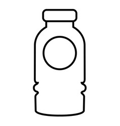 cosmetic bottle icon outline style vector image