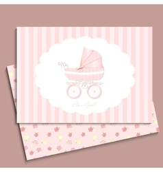 cute card design baby shower mothers day vector image