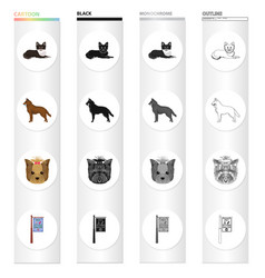 Dog domestic animal and other web icon in vector