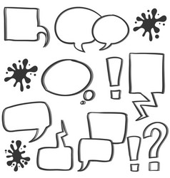 doodle of bubble speech hand draw vector image