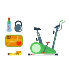 Fitness gym club icons vector