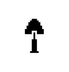 Gardening shovel pixel icon tool vector