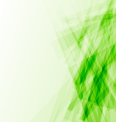 Green business card abstract background vector image