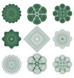 guilloche rosette vector image