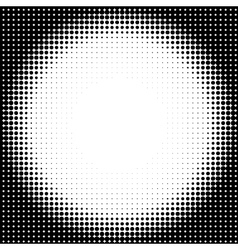 Halftone circle background vector image