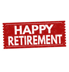 Happy retirement label or sticker vector