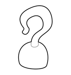 Hook icon outline vector