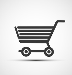 icon shopping cart vector image