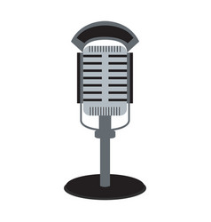 Isolated flat microphone vector