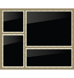 Isolated photo frames set vector